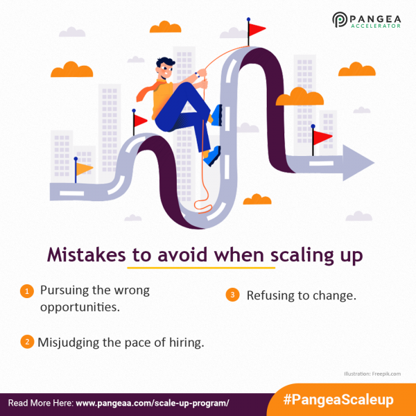 Mistakes to avoid when scaling up
